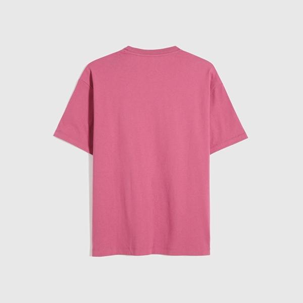 Gap男裝 Logo純棉質感厚磅短袖T恤 795473-玫瑰紅