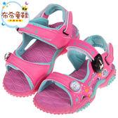 《布布童鞋》Disney冰雪奇緣粉色磁扣式兒童運動涼鞋(16~20公分) [ B8G113G ]