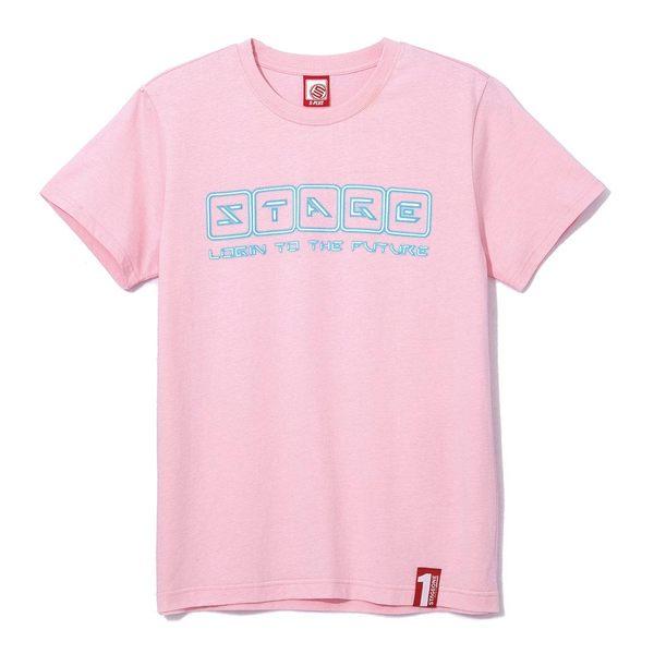 登入未來TEE NEON LOGO TEE 黑色/粉色 兩色