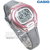 CASIO卡西歐 LW-203-8A 輕巧 10年電力 電子錶 運動錶 防水錶 女錶 童錶 灰x粉紅 LW-203-8AVDF