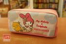 My Melody×toripicals 美樂蒂 熱帶水果鳥 網型拉鍊筆袋 收納袋 粉 KRT-215358