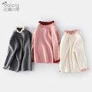 女童毛衣2020新款洋氣嬰兒毛線衣服春秋裝高領套頭寶寶打底針織衫 小山好物
