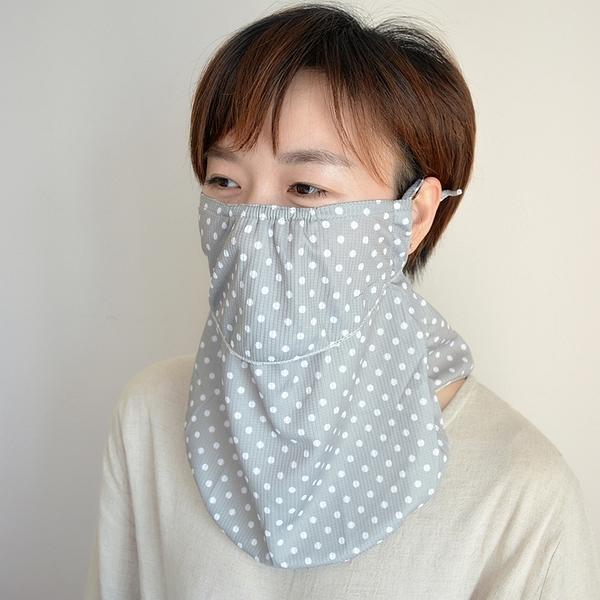 出口日本戶外女夏防紫外線加大護頸披肩防曬口罩薄透氣 韓美e站