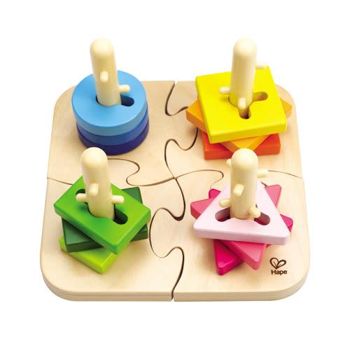 德國Hape愛傑卡 -創意樁木幾何拼圖 792元