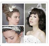 【全館】82折新娘DIY網紗豆豆紗 手工造型面紗韓式珍珠水鉆結婚發飾婚紗頭飾品中秋佳節