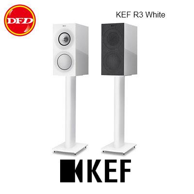 英國 KEF R3 Gloss White 三路分音書架揚聲器 Uni-Q 同軸共點單元 鋼琴白 台灣公司貨