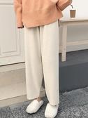針織褲針織寬管褲女秋冬新款寬鬆直筒哈倫網紅奶奶褲墜垂感哈倫褲子 扣子小鋪