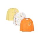mothercare 3入黃橘長袖上衣-中性吊掛內衣(M1MC140)09M、18M、24M、36M