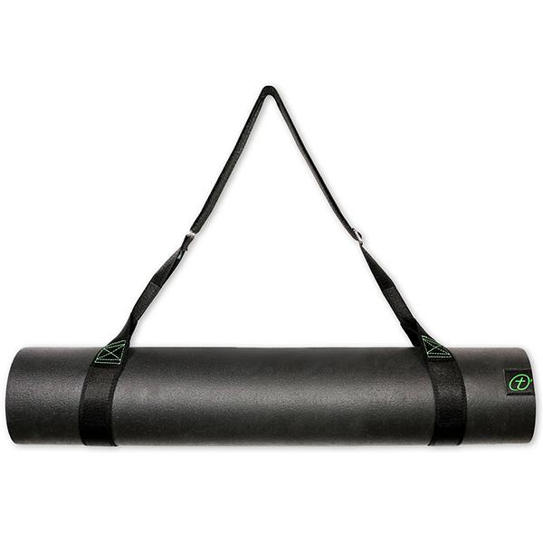 Taimat 天然橡膠瑜珈墊 198cm (附簡易揹帶) - 先知系列 - 黑色