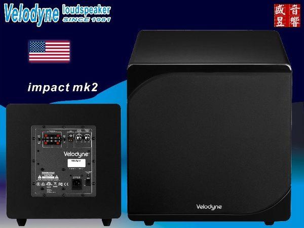 盛昱音響/美國 Velodyne impact 12 MK2 超低喇叭 (台灣代理商鴻韻公司貨三年保固) 有現貨可自取