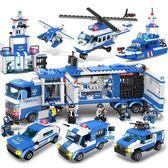 拼插積木 品興322城市警察指揮車移動警署警察總局繫列拼裝拼插積木玩具 珍妮寶貝