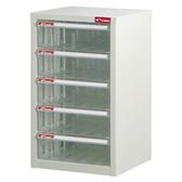樹德A4 105H 白櫃透明抽五層效率櫃S1 52021055