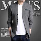 針織開衫男青年春秋新款韓版潮流毛衣外搭線衫修身薄款帥氣男外套