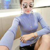 針織衫 993# 秋季新款半高領針織衫修身顯瘦長袖套頭毛衣打底衫