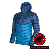 【MAMMUT 長毛象】男 Pertex輕量連帽羽絨外套『藍寶石/水鴨藍』1013-01140 登山 外套 羽絨 保暖 禦寒