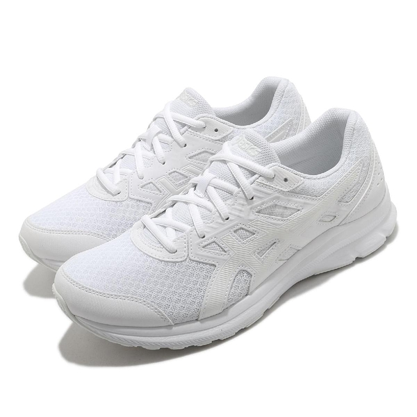 Asics 慢跑鞋 Jolt 3 超寬楦頭 男鞋 全白 韓國 穿搭鞋 基本款【ACS】 1011B041101