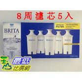 [促銷到9月20新款圓型8周用濾心] Brita 濾水壺專用圓形濾心/濾芯 (5入/組)