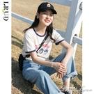 LRUD白色短袖T恤女2020年春夏季新款韓版寬鬆純棉打底衫上衣ins潮 范思蓮恩