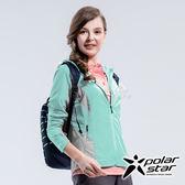 PolarStar 女 休閒抗UV連帽外套『水藍』P18108 休閒 露營 防曬 透氣 吸濕 排汗 彈性 抗紫外線