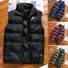 【加大碼】豹頭加厚保暖立領羽絨棉夾棉背心外套/鋪棉 4色 M-6XL碼【CW434281】
