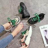 增高鞋女 秋季2018新款運動鞋女韓版ulzzang原宿百搭鬆糕厚底內增高老爹鞋 伊莎公主 伊莎公主