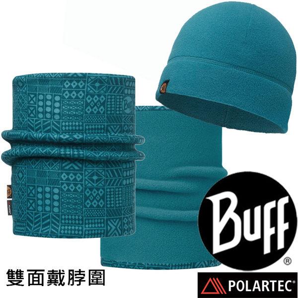 BUFF 113284.737 Polar Reversible雙面戴圍脖+快乾保暖帽組 東山戶外