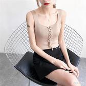 針線吊帶大冰絲吊帶背心女大碼性感V領顯瘦打底衫 qw519『俏美人大尺碼』