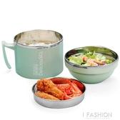 304不銹鋼飯盒 上班族便當盒學生帶蓋快餐杯女保溫成人2雙層餐盒-Ifashion