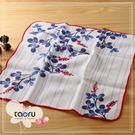 日本毛巾 : 和的風物詩_胡枝子 30*30 cm (手巾 和服風雅 -- taoru 日本毛巾)