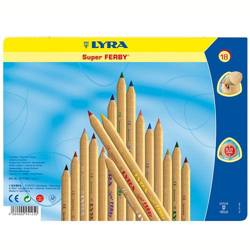 《德國LYRA》LYRA三角原木色鉛筆(17.5cm)18色╭★ JOYBUS玩具百貨