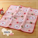 日本毛巾 : 和的風物詩_南天兔兔 30*30 cm (手巾 冬雪 -- taoru 日本毛巾)