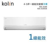 ((福利電器))全新品 Kolin歌林 4-5坪一級能效變頻冷專分離式冷氣 含基本安裝 可申請貨物稅補助
