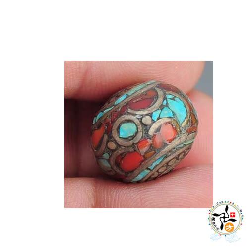 藏式 手工銅珠 【 十方佛教文物】