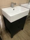 【麗室衛浴】LS-60方型檯上盆 單孔 60CM+浴櫃組