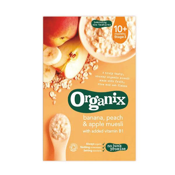 英國 Organix 歐佳有機燕麥多穀片~香蕉蘋果200G(十個月)