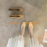 奶奶鞋女款百搭夏季平底豆豆鞋單鞋軟皮瑪麗珍女鞋子【橘社小鎮】