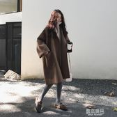 廓形毛外套女秋冬韓版學生中長款大碼斗篷呢子大衣    原本良品