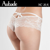 Aubade-冰火S-L繃帶蕾絲平口褲(白)NC