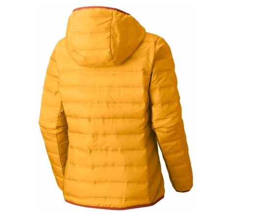 【Columbia】哥倫比亞 女款-無縫650羽絨連帽外套-黃WR0006