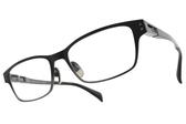 JAPONISM光學眼鏡 JP032 C04 (漸層黑銀-黑) 帥氣工業風 平光鏡框 # 金橘眼鏡