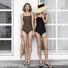新款復古性感連身比基尼大小胸聚攏遮肚顯瘦保守溫泉泳衣女 韓語空間