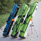 漁具包硬殼魚竿包1.25米防水釣魚包兩三層帶支架竿包桿包魚包