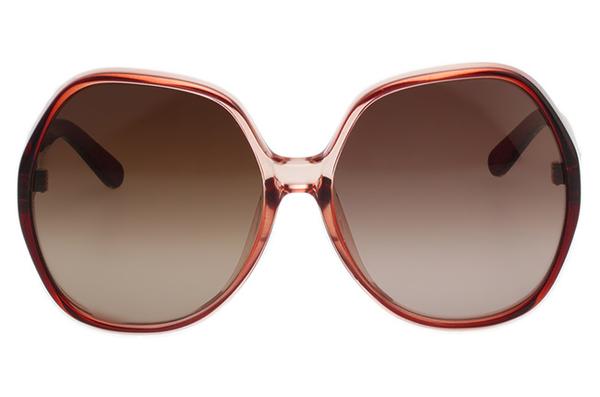 CHLOE 個性方框 太陽眼鏡 -漸層咖啡紅CE723SA