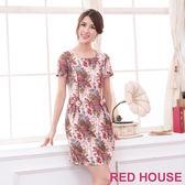 RED HOUSE-蕾赫斯-田園花朵蝴蝶結洋裝(共二色)
