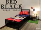 3.5尺單人床 鐵床架 消光黑免螺絲角鋼 床架設計 床鋪 床板 可訂製床架 空間特工S1BC309