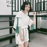 夏季原宿風韓版學生寬鬆跑步運動班服女休閒閨蜜兩件套裝 限時八折鉅惠 明天結束