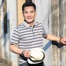 中年男士短袖t恤父親節衣服丅純棉夏天體桖潮流土中老年人爸爸裝 小艾新品