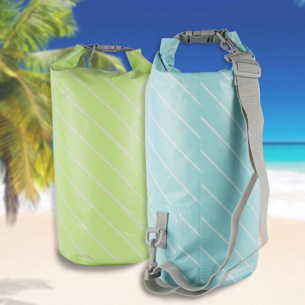 戶外游泳漂浮裝備 衣物防偷袋 漂流袋(條紋款) 多色可選◆86小舖◆
