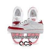 【海外限定】Reebok 休閒鞋 Club C 85 白 紅 Hello Kitty 聯名 蝴蝶結 女鞋【ACS】 EH3051