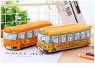 筆袋筆筒創意中小學生筆袋男兒童卡通巴士汽車文具袋大容量筆盒鉛筆盒帆布